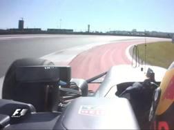 Il taglio incriminato di Max Verstappen ad Austin.