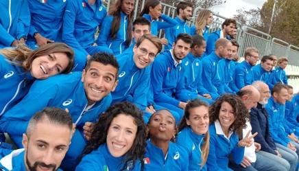 Gli azzurri dell'atletica riuniti questa mattina a Roma
