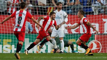 Girona esulta, Ramos perplesso. Reuters