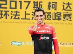 Alberto Contador, 34 anni, nel Criterium di Shanghai. Aso