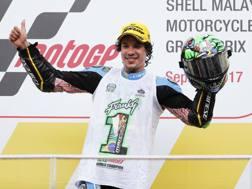 Franco Morbidelli celebra il titolo Moto2. Ap
