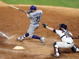 Joc Pederson decisivo per la vittoria dei Dodgers. Reuters