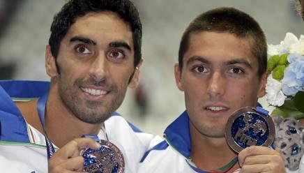 Filippo Magnini e Michele Santucci. Ap