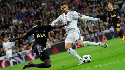 Cristiano Ronaldo, 32 anni, nell'ultima sfida contro il Tottenham. Afp