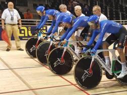 Il quartetto azzurro alla Coppa del Mondo su pista