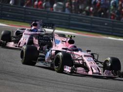 Le Force India di Ocon e Perez. LaPresse