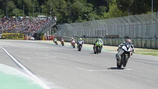 Una fase della Superbike 2017 a Imola. Getty