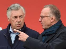 Ancelotti e Rummenigge ai tempi del Bayern. Afp