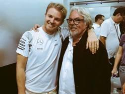 Nico Rosberg con il padre Keke.
