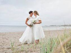 Le foto del matrimonio di Kira Walkenhorst con l'allenatrice Maria Kleefisch