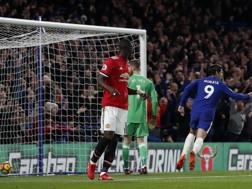 Alvaro Morata mette dentro il gol-partita. Afp