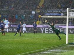 Luca Rizzo segna così il gol dell'1-1. Ansa