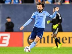 Andrea Pirlo in azione nell'ultima partita col New York City. Reuters