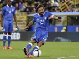 Andrea Pirlo, con la maglia della Nazionale nel 2013. AP