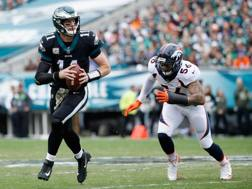 Carson Wentz, 24 anni, quarterback dei Philadelphia Eagles AFP