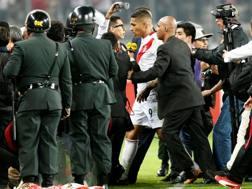 Pablo Guerrero dopo  Perù-Colombia. Reuters