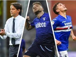 Simone Inzaghi, Ciro Immobile e Lucas Torreira: miglior tecnico, giocatore e giovane di ottobre per i lettori. Ansa/Getty/Ansa