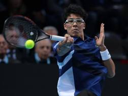 Hyeon Chung in azione a Rho. Getty