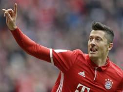 Robert Lewandowski, 29 anni, attaccante del Bayern Monaco. AP