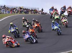 Il gruppo della MotoGP a Phillip Island. Ap