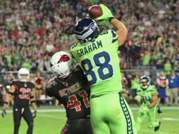 Il touchdown di Graham che chiude il match a favore dei Seahawks REUTERS