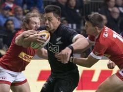 Rob Thompson degli All Blacks nella sfida contro il Canada di sabato scorso AFP