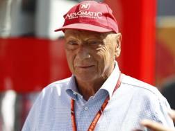 Niki Lauda, 68 anni, tre volte campione del mondo di Formula 1 Afp