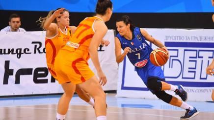Giorgia Sottana in azione a Skopje. Foto Migliola