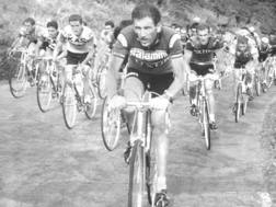 Vittorio Adorni in una tappa del Giro d'Italia 1967. Ansa