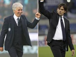 Gian Piero Gasperini e Simone Inzaghi. Getty/Ap