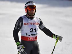 David Poisson in allenamento a St. Moritz. Afp