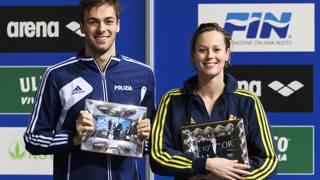 Gregorio Paltrinieri e Federica Pellegrini, premiati insieme un anno fa. Inside