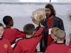 Eric Cantona, 51 anni, ha giocato nel Manchester United dal '92 al '97. Afp