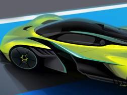 Il rendering della super car Valkyrie svelata da Aston Martin