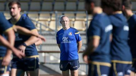 Il c.t. azzurro Conor O'Shea. Fama