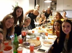 Le giocatrici di Scandicci riunite per una cena di gruppo