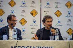 Da sinistra il c.t. Davide Cassani e Alex Zanardi. Sestili
