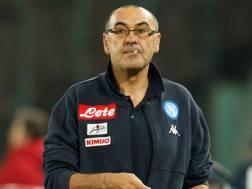 Maurizio Sarri, 58 anni, allenatore Napoli. AFP