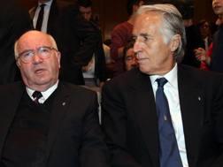 Giovanni Malagò con Carlo Tavecchio. Ansa