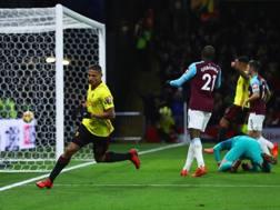Richarlison segna il 2-0 al West Ham. Getty Images