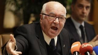 Carlo Tavecchio, 74 anni, era presidente della Figc dal 2014. Ap