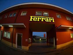 L'ingresso della Ferrari a Maranello. Afp