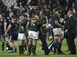 I sudafricani festeggiano a Parigi. Afp