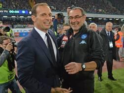 Massimiliano Allegri e Maurizio Sarri. Getty
