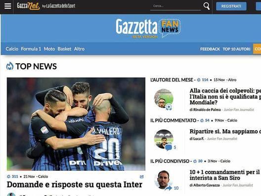 È arrivata GazzettaFanNews La Gazza che scrivete voi
