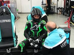Enea Bastianini, 19 anni, durante i test con il team Leopard - Twitter