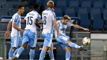 Il pari di Luis Alberto nei minuti finali del primo tempo Afp