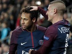 Neymar e Marco Verratti, 25 anni, rispettivamente attaccante e centrocampista del Psg. Epa