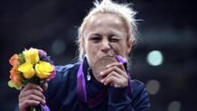 Rosalba Forciniti, 31 anni, con il bronzo olimpico a Londra 2012. Epa