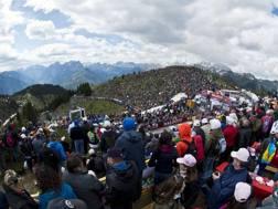 Il Giro sullo Zoncolan nel 2014. Bettini